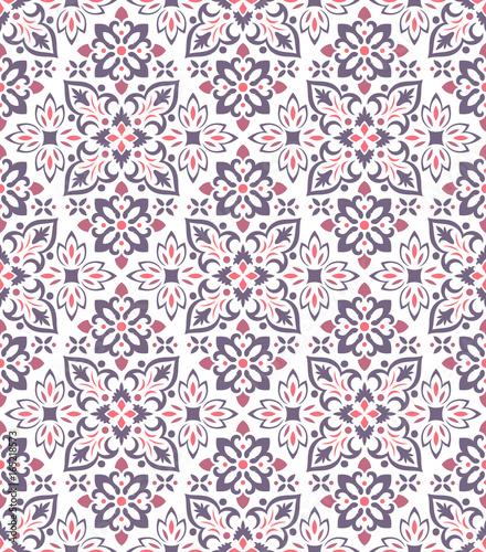 Boho Flower Pattern - 165218573