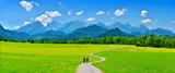 Summer mountain travel, Schwangau, Germany