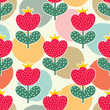 Cute flowers. Vector seamless pattern. - 165245744