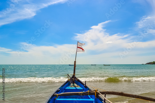 Fotobehang Overige Boat on the Beach, South Goa, India