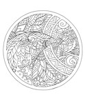 Floral patterns and ornaments in a circle. Tattoo - 165258570