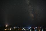 Milky way stars night in Sounion Greece