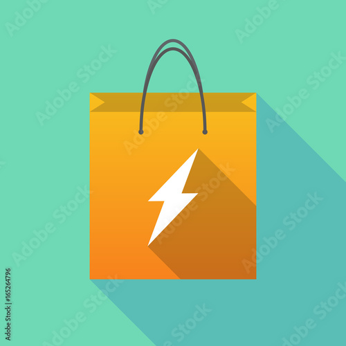 Long shadow shopping bag with a lightning