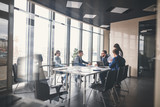 Corporate business team and manager in a meeting - 165278903