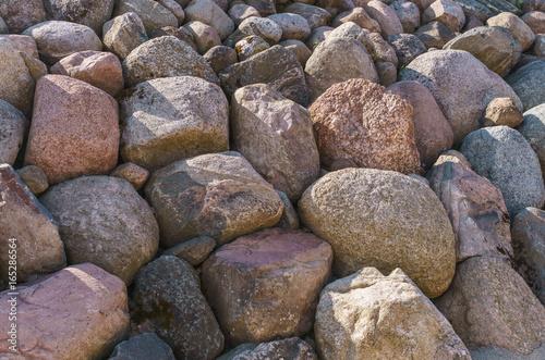 Scenery of stones in Koknese in the park Garden of Destinies in Latvia. July 2017.