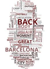 MEMORIES OF BARCELONA Text Background Word Cloud Concept
