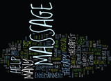 MASSAGE FOR HEALTH OR ENTERTAINMENT Text Background Word Cloud Concept - 165293139