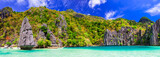 Exotic tropical islands. Unique incredible nature of El Nido, Palawan, Philippines. - 165295399