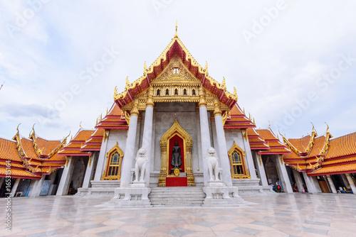 Wat Benchamabophit Dusitwanaram landmark in Bangkok, Thailand / Outside of Wat Benchamabophit Dusitwanaram