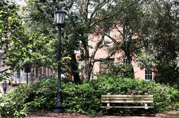 Savannah, Georgia city park.
