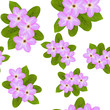 Pink spring flowers seamless pattern - 165334797