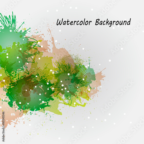 Foto op Canvas Vlinders in Grunge Watercolor backgrounds for design. Beautiful watercolor multicolored spray. Compositions of watercolor stains to decorate banners, brochures and booklets. Illustration