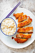 Crispy Katsu Chicken Curry with fragrant rice  - 165354934