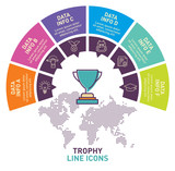 Trophy infographic template vector design. Infographic design template. - 165383300