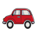Red small car