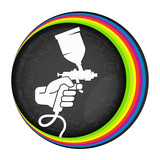 Spray for painting symbol - 165383389
