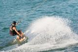 Wakeboarding na jeziorze