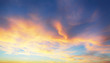 Only sky, dramatic sunset with colorful clouds