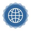 App Icon blau Globus