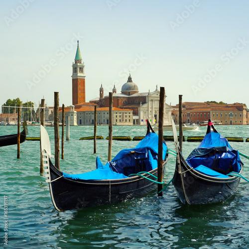 Italy, Morning in Venice. Gondolas © elen_studio