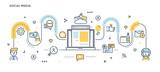 Flat Line Design Header - Social Media - 165391584