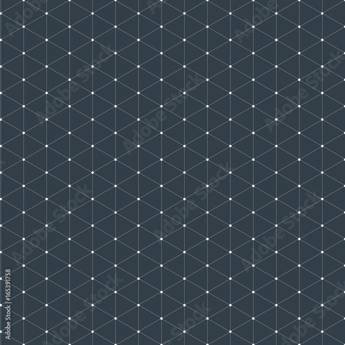Modern stylish isometric pattern texture, Three-dimensional rectangle, Repeating geometric background with rhombus circles variously, vector - 165391758