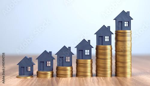 canvas print picture steigende Immobilienpreise