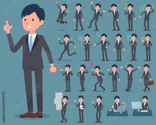 flat type Gray suit businessman_1