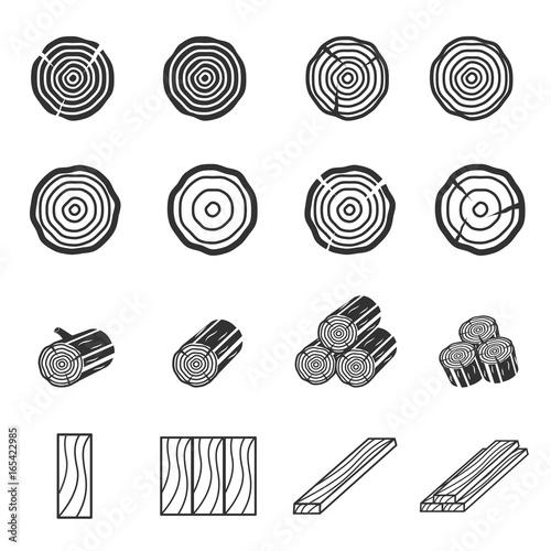 Wood Icons - 165422985