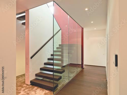 Treppe Treppenhaus Holz Stein Beton