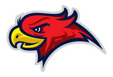 Eagle head mascot, colored version. Great for sports logos & team mascots.  - 165427920