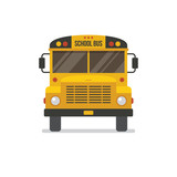 School bus front view. - 165430923