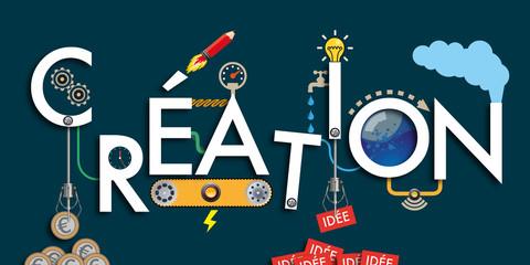 création - idée - imagination - invention - machine - concept - solution - créatif