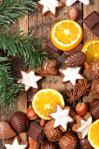 Wall mural christmas cookie,chocolate and spices