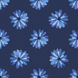 Flowers seamless pattern. Blue flowers nature pattern. Vector stock. - 165448521