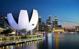 Marina Bay au crépuscule, Singapour.