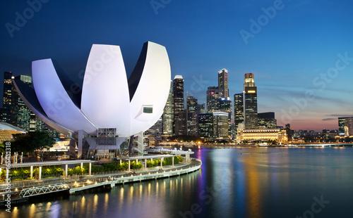 Poster Marina Bay au crépuscule, Singapour.