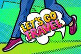 Let s go travel Wiadomość w stylu pop-artu