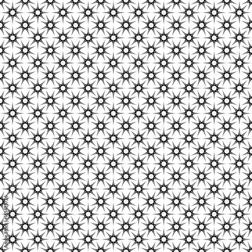 Fotobehang Pop Art Monochrome seamless star pattern - geometrical abstract vector background graphic design from polygons