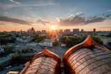 Sunset in Moscow. - 165487340