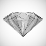 Abstract sketchy diamond illustration - vector eps8 - 165491758