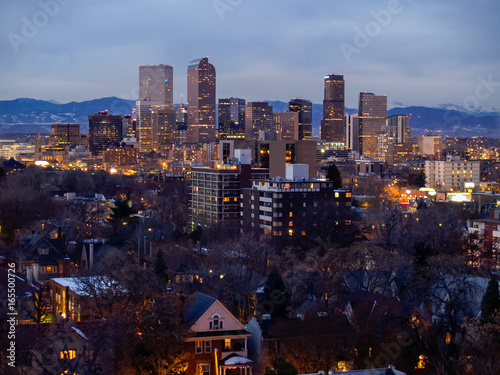 Downtown Denver Colorado Skyline Buildings Poster