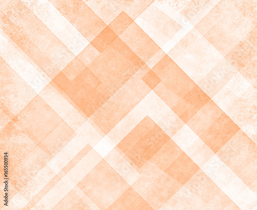 orange and white abstract background of triangles and diamond shape layers in warm autumn color block design with angles and lines in decorative illustration