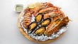 Exotic seafood dishes for you! For health and a pleasant appetite. - 165509154