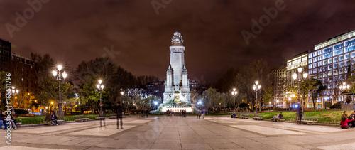 Foto op Aluminium Nacht snelweg Madrid