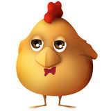 Funny little boy chick with business expression