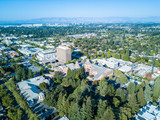 Aerial view of downtown Mountain View in California