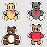 Set of Teddy Bear. Vector illustration for sticker, label, price tag or banner