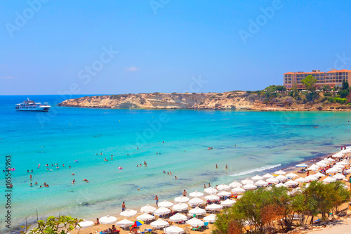 Coral Bay Beach in Paphos, Cyprus Poster