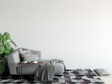 mock up wall interior. Wall art. 3d rendering, 3d illustration - 165550166